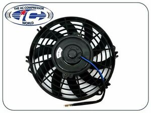 Universal 9 Cooling Fan S Blade 90 Watts Pusher Reversible 12v With Mount Kit
