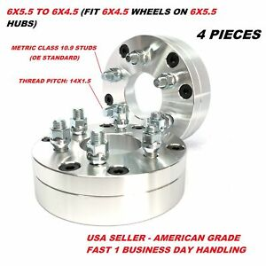 4x Wheel Adapters 6x5 5 To 6x4 5 14x1 5 Studs 2 Inch 50mm