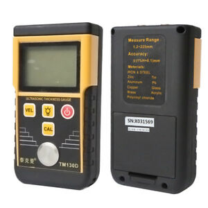 225mm Wall Thickness Gauge Tester Meter Tm130d Digital Ultrasonic Fo Metal Steel