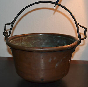 Antique Large Copper Kettle From German 18 Century Baroque Pan Pot