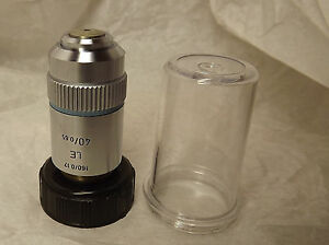 Leitz Microscope Objective Lens le Improved Field Flatness 40x 0 65
