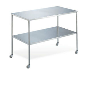 Instrument Table With Shelf 48 w X 20 d X 34 h 1 Ea