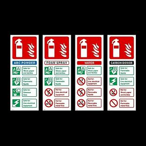 Fire Extinguisher Id Plastic Sign Or Sticker All Materials