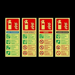 Fire Extinguisher Id Photoluminescent Plastic Sign Or Sticker All Materials