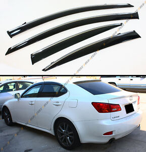 For 2006 2013 Lexus Is250 Is350 Is F Slim Vip Style Clip On Smoked Window Visor