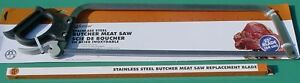 25 Stainless Steel Butcher Meat Saw With 25 Stainless Steel Replacement Blade