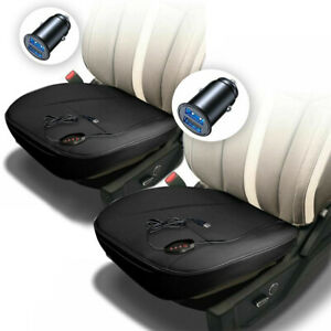 Zone Tech 12v 2x Heated Car Seat Cushion Cover 1 Integrated Plug 45 Min Timer