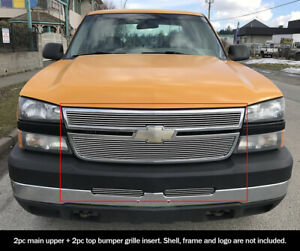 For 2006 Chevy Silverado 1500 2005 2006 2500 Billet Premium Grille Combo