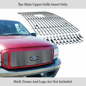 Fits 2000 2004 Ford Excursion W Logo Show Upper Chrome Billet Grille Insert