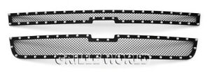 Fits 2006 Chevy Silverado 1500 05 06 2500 3500 Rivet Stainless Mesh Grille Grill