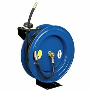 Cyclone Pneumatic Cp3688 3 8 X 50 300 Psi Retractable Air Compressor Hose Reel