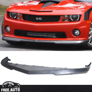 For 2010 2013 Chevy Camaro Ss V8 Front Bumper Lip Spoiler Poly Urethane Black Pu