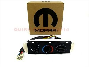 99 04 Jeep Wrangler Without Air Conditioning A C Heater Control Unit Mopar Oem