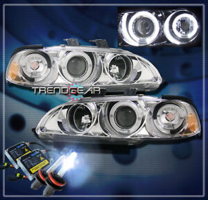 1992 1995 Honda Civic 2 3dr Halo Jdm Projector Headlight Hid 8k Chrome 1993 1994