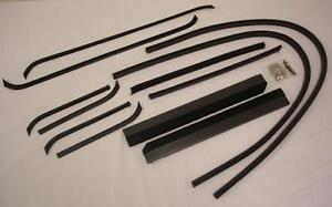 1940 1941 Ford Pickup Truck Door Run Window Channel Kit Both Doors Windows