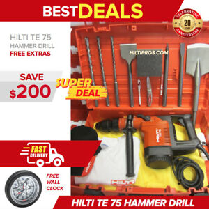 Hilti Te 75 Hammer Drill Preowned L k Free Bits Strong Fast Shipping
