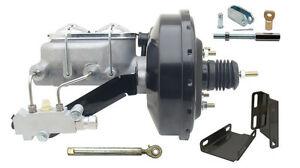 1960 1966 Chevy Truck 9 Power Brake Booster Conversion Kit Powder Coated Black