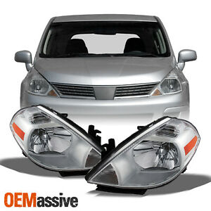 Fits 2007 2012 Versa Headlights Headlamps Replacement Left Right 07 08 09 10 12