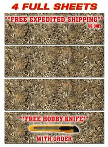 4 Camouflage Vinyl Decal 48 X 15 Truck Wrap Tree Print Duck Camo Grass