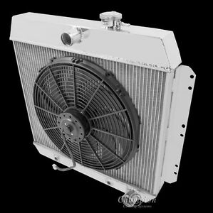 1949 1954 Chevy Cars V8 Conversion Champion 3 Row Radiator 16 Cooling Fan