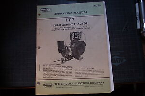 Lincoln Welder Lt 7 Arc Wire Feeder Dc Operation Operator Manual Book Guide 1985