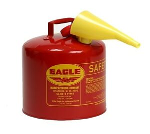 Eagle Safety Gas Can 5 Gallon Osha Nfpa Approved New In Box Eag Ui 50 fs