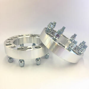 2pc 1 Inch 25mm Wheel Spacers 8x6 5 To 8x6 5 9 16 Studs Fits Dodge Ford