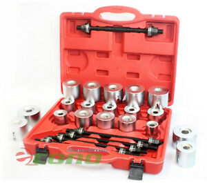 27pc Universal Press Pull Sleeve Kit Bush Bearing Removal Insertion Tool Set