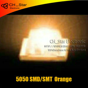 1000pcs 5050 2220 Plcc 6 Orange Light Smd Smt 3 chips Ultra Bright Led