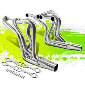 Stainless Steel Long Tube Exhaust Header For Chevy Sbc 305 350 400 Camaro Malibu