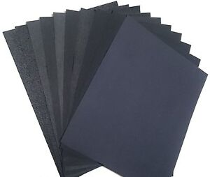 22 Pieces Premium Latex Backed Sandpaper Wet Dry Assorted Variety Pack 5 5 X 3