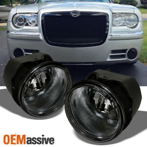 Fits 2005 2010 Chrysler 300 300c 08 09 Caliber Srt 8 Smoked Fog Lights W Bulb