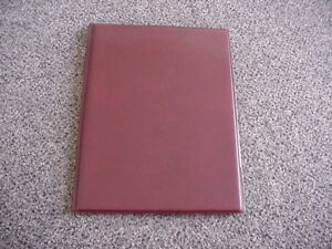 Slim Presentation Pad Holder Portfolio Burgundy
