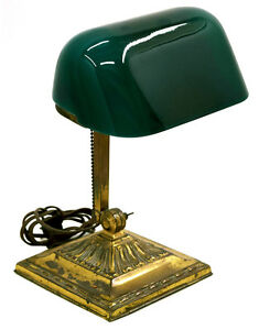 7739 Double Knuckle Emeralite Bankers Lamp