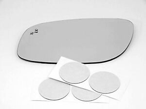 Fits 10 17 Taurus Left Dr Mirror Glass Heated W blind Spot For Non Auto Dim Type