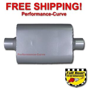2 Chamber Performance Muffler Full Boar 2 5 Center Center Fb2540