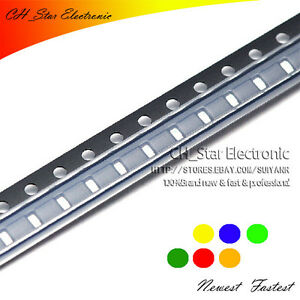 10colors 1000pcs 0805 Smd Smt Led Diode White Red Yellow Green Blue Etc Mix Kits