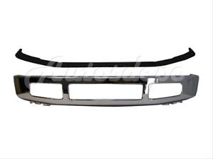 For 2008 2010 Ford Super Duty F250 F350 Front Bumper Chr Face Bar Upper Pad Blk