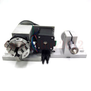 50mm Rotary Axis 4th axis Cnc Router Rotational A axis Tailstock For Milling
