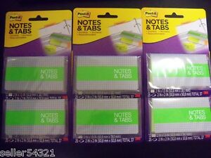 Post it Notes Tabs Orange neon Green 72 Tabs 2 X 1 5 150 Notes 2 X 2 6 Pk
