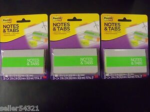 Post it Notes Tabs Orange neon Green 36 Tabs 2 X 1 5 75 Notes 2 X 2 3 Pk
