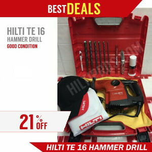 Hilti Te 16 Good Condition Free Hilti Hat Extras Fast Shipping
