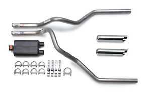 Ford F150 F250 1998 2003 Dual Exhaust Flowmaster 40 Muffler Chrome Tips