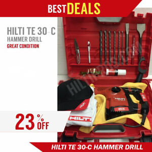 Hilti Te 30 c Avr Hammer Drill Excellent Condition Free Extras Fast Ship