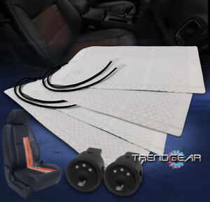 2x Universal Heated Seat Heater Pad Kit Round Hi Mid Low Switch Versa Sx4 Tercel
