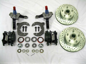 Mustang Ii 2 Front Disc Brake Kit With 11 Plain Rotors Chevy Stock Spindles