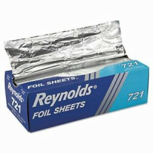 Interfolded Foil Sheets 12 X 10 3 4 Size rey 721