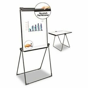 Universal Foldable Double Sided Whiteboard Easel 28 5 X 37 5 unv43030