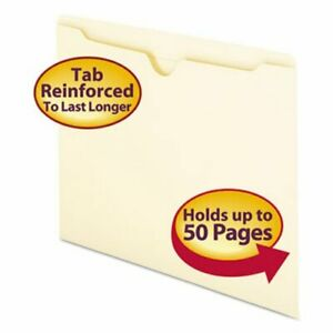 Smead File Jackets With Double ply Tab Letter 100 Per Box smd75500