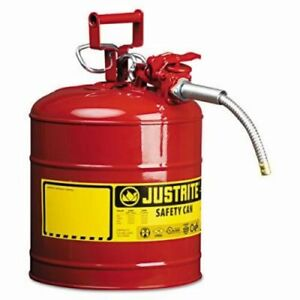 Justrite Accuflow Safety Can Type Ii 5gal Red 5 8 Hose jus7250120